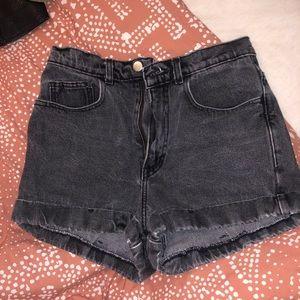 High waisted AA jean shorts